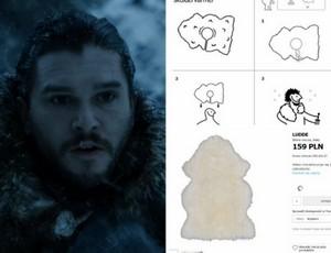 Jon Snow z Gry o Tron ma pelerynę... z IKEA! :)))