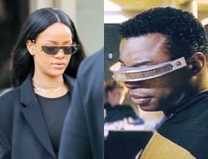 Rihanna zaprojektowała okulary Dior! Wzór? STAR TREK! :)
